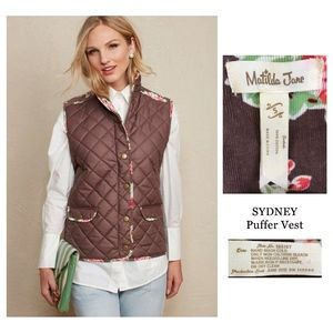 MATILDA JANE Women's Brown SYDNEY Puffer Vest